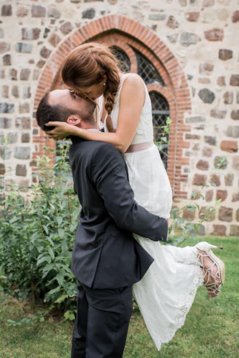 Hochzeitsreportage. der Kuss.