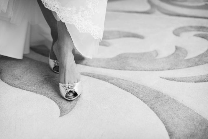 Hochzeitsreportage Brautschuh