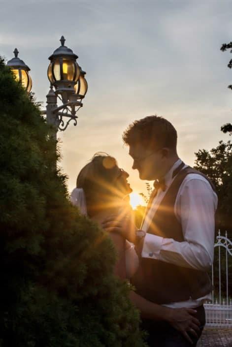 Hochzeitsreportage beim Sonnenuntergang