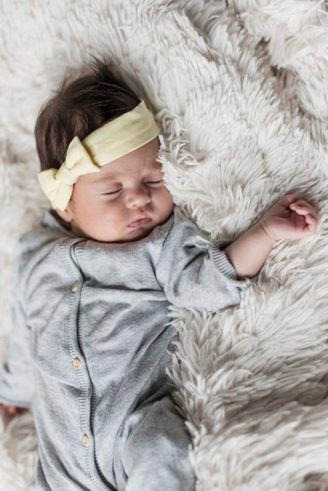 Familienshooting. Baby am schlafen.